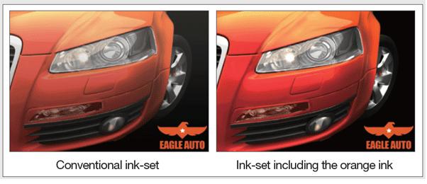 orange ink